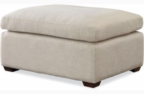 Curated Sumatra White Haven Ottoman