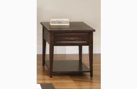Lakewood Rectangular Amaretto End Table
