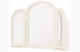 Harmony Antique Linen White Vanity Mirror