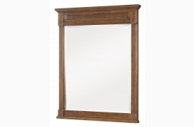 Big Sur Saddle Brown Vertical Mirror