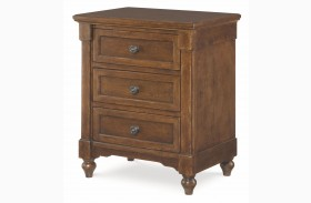 Big Sur Saddle Brown 3 Drawer Nightstand