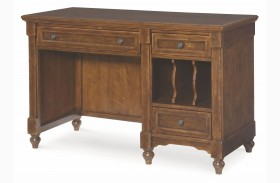 Big Sur Saddle Brown 3 Drawer Desk
