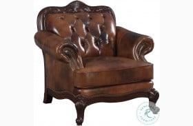 Victoria Tri Tone Leather Chair