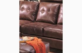 Samuel Brown Leather Armless Chair