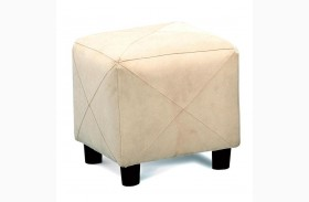 Taupe Microfiber Cube Foot Stool - 500944