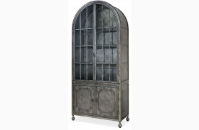 Curated Remix Antiqued Iron Metal Display Cabinet