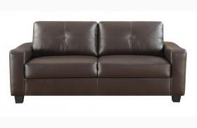 Jasmine Brown Bonded Leather Sofa
