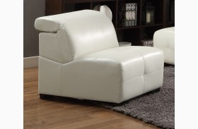 Darby White Armless Chair