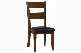 Plantation Ladderback Upholstered Side Chair Set of 2