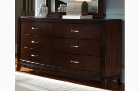 Avalon Dark Truffle 6 Drawer Dresser