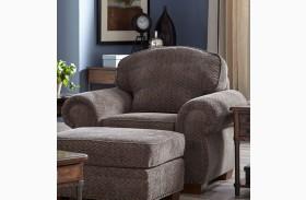 Cambridge Walnut Chenille Fabric Chair