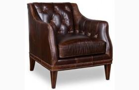 Kennedy Walnut Matching Leather Chair