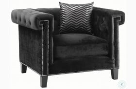 Reventlow Black Velvet Chair
