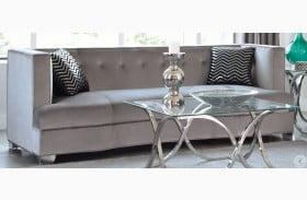 Caldwell Silver Velvet Sofa