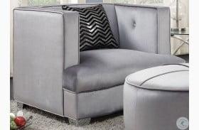 Caldwell Silver Velvet Chair