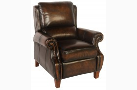 Prato Black & Tan Leather Recliner