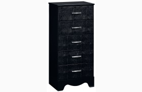 Vogue Glossy Black Lingerie Chest