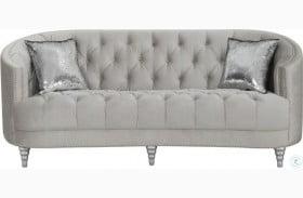 Avonlea Gray Velvet Sofa