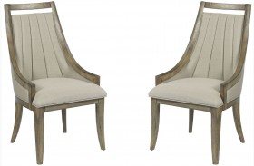 Evoke Barley Upholstered Dining Chair Set of 2