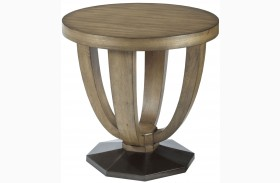 Evoke Barley Round End Table