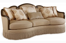 Giovanna Golden Quartz Upholstered Sofa