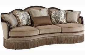 Giovanna Azure Upholstered Sofa