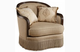 Giovanna Golden Quartz Upholstered Chair
