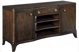 Grantham Hall Deep Coffee Entertainment Console