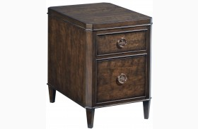 Grantham Hall Deep Coffee Charging Chairside Table