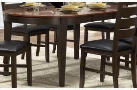 Grunwald Dark Brown Uv Coating Top Dining Table