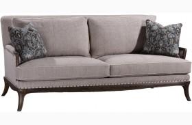 St Germain Siene Pewter Upholstered Sofa
