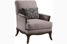 St Germain Siene Pewter Upholstered Chair