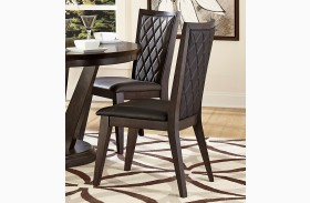 Villa Vista Dark Walnut Side Chair Set of 2