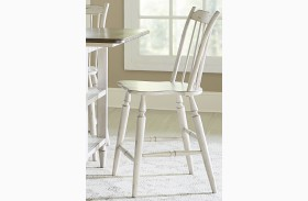 Oak Hill Tan Smoke & Antique White Windsor Back Counter Chair Set of 2