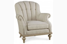 Collection One Upholstered Brewster Channel Back Chair