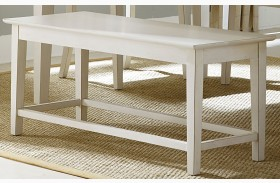 Summerhill Rubbed Linen White Bench