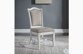 Abbey Park Antique White Side Chair