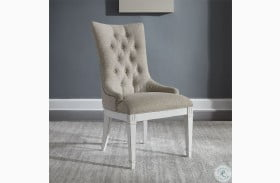 Abbey Park Antique White Hostess Chair