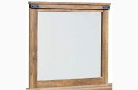 Montana Rustic Buckskin Mirror
