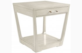 Coastal Living Oasis Oyster Meridian Square Lamp Table