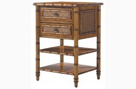 Island Estate Plantation Brown Ginger Island Bedside Chest