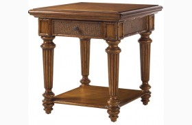 Island Estate Plantation Brown Boca End Table