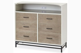 MyRoom Parchment and Gray Dressing Chest