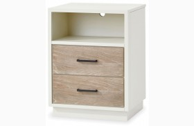 MyRoom Parchment and Gray Nightstand