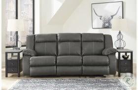 Denoron Gray Power Reclining Sofa