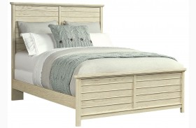 Driftwood Park Vanilla Oak Queen Panel Bed