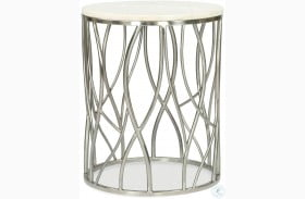 Ulysses Polished Steel Round End Table