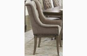 Vermillion Neutral Tone Cream Bisque Arm Chair Set of 2