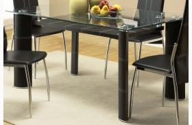Wilner Rectangular Glass Top Dining Table