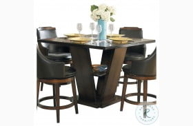 Bayshore Burnished Oak Counter Height Dining Table